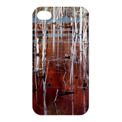 Automn Swamp Apple Iphone 4/4s Premium Hardshell Case by cgar