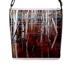 Automn Swamp Flap Closure Messenger Bag (Large) by cgar