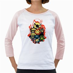 Despicable Avengers Women s Long Cap Sleeve T Shirt (white)  by Contest1736614