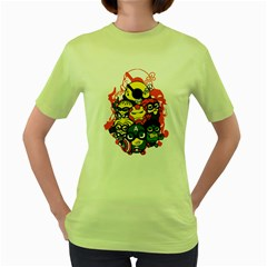 Despicable Avengers Women s T-shirt (Green) by Contest1736614