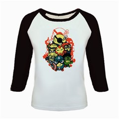Despicable Avengers Kids Long Cap Sleeve T-Shirt by Contest1736614