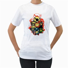 Despicable Avengers Women s T-Shirt (White)  by Contest1736614
