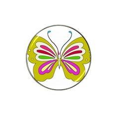 Color Butterfly  Golf Ball Marker 10 Pack (for Hat Clip) by Colorfulart23
