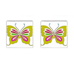 Color Butterfly  Cufflinks (Square) by Colorfulart23