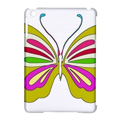 Color Butterfly  Apple Ipad Mini Hardshell Case (compatible With Smart Cover) by Colorfulart23