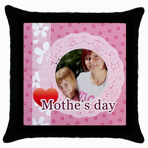 Mothers Day By Mom   Throw Pillow Case (black)   Sx4s479eq43y   Www Artscow Com Front