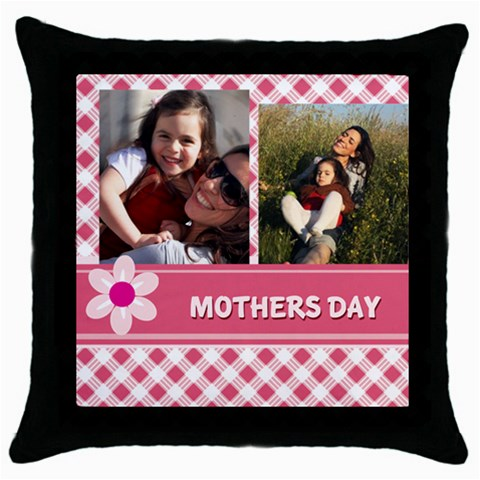 Mothers Day By Mom   Throw Pillow Case (black)   S1cn27ywxyuw   Www Artscow Com Front