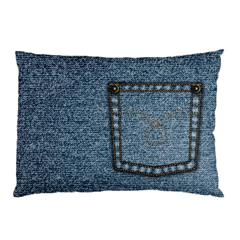 Jeans By Divad Brown   Pillow Case   17nq5itq1pde   Www Artscow Com 26.62 x18.9 Pillow Case