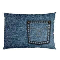 Jeans By Divad Brown   Pillow Case (two Sides)   12x1ztniax7w   Www Artscow Com Front