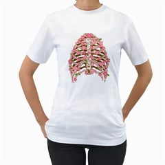 Blossoms Ribs Women s T-Shirt (White)  by Contest1753604