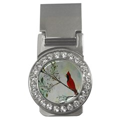 Sweet Red Cardinal Money Clip (cz) by rokinronda