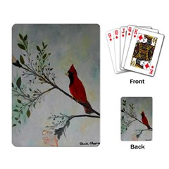 Sweet Red Cardinal Playing Cards Single Design by rokinronda