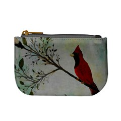 Sweet Red Cardinal Coin Change Purse by rokinronda