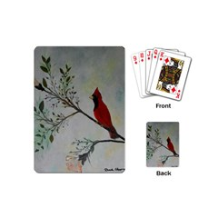 Sweet Red Cardinal Playing Cards (mini) by rokinronda