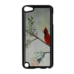 Sweet Red Cardinal Apple Ipod Touch 5 Case (black) by rokinronda
