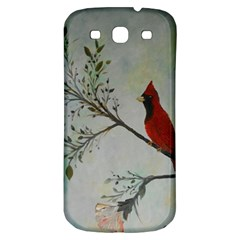 Sweet Red Cardinal Samsung Galaxy S3 S Iii Classic Hardshell Back Case by rokinronda