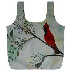 Sweet Red Cardinal Reusable Bag (xl) by rokinronda