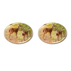 Deer in Nature Cufflinks (Oval)