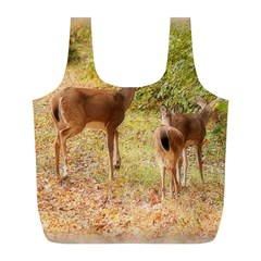 Deer In Nature Reusable Bag (l) by uniquedesignsbycassie