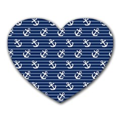 Boat Anchors Mouse Pad (heart)