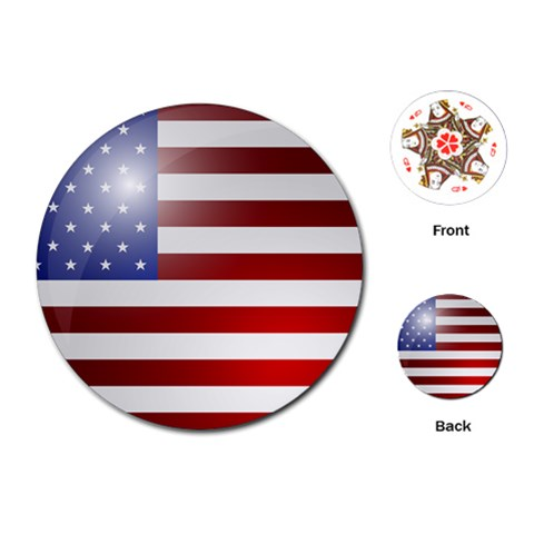 Flag By Divad Brown   Playing Cards (round)   Cc1ruff5xncg   Www Artscow Com Front
