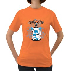 The Lucky Dog Women s T Shirt (colored) by Contest1771648