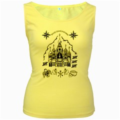 Russian Tattoo Women s Tank Top (Yellow)