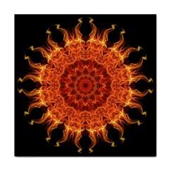 Flaming Sun Ceramic Tile by Zandiepants