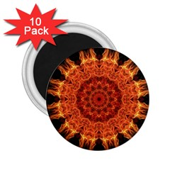 Flaming Sun 2 25  Button Magnet (10 Pack) by Zandiepants