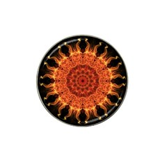 Flaming Sun Golf Ball Marker (for Hat Clip) by Zandiepants