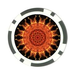 Flaming Sun Poker Chip