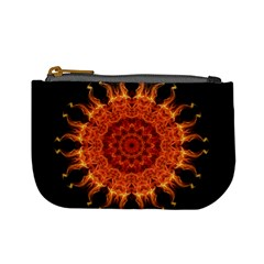 Flaming Sun Coin Change Purse