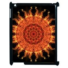 Flaming Sun Apple Ipad 2 Case (black) by Zandiepants