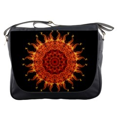 Flaming Sun Messenger Bag by Zandiepants
