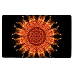 Flaming Sun Apple Ipad 2 Flip Case by Zandiepants