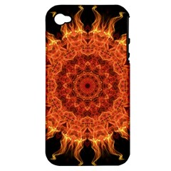 Flaming Sun Apple Iphone 4/4s Hardshell Case (pc+silicone) by Zandiepants