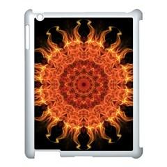Flaming Sun Apple Ipad 3/4 Case (white) by Zandiepants