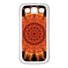 Flaming Sun Samsung Galaxy S3 Back Case (white) by Zandiepants