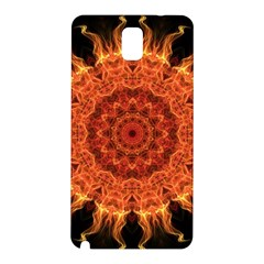 Flaming Sun Samsung Galaxy Note 3 N9005 Hardshell Back Case by Zandiepants