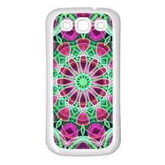 Flower Garden Samsung Galaxy S3 Back Case (white) by Zandiepants