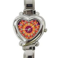 Gemstone Dream Heart Italian Charm Watch  by Zandiepants
