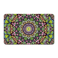 Psychedelic Leaves Mandala Magnet (rectangular) by Zandiepants