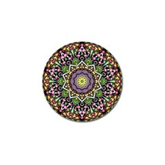 Psychedelic Leaves Mandala Golf Ball Marker 10 Pack by Zandiepants
