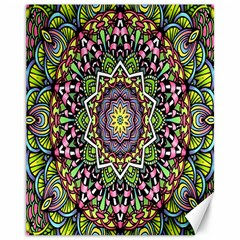 Psychedelic Leaves Mandala Canvas 11  X 14  (unframed) by Zandiepants