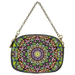 Psychedelic Leaves Mandala Chain Purse (two Sided)  by Zandiepants