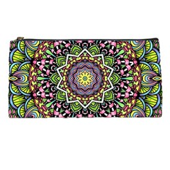 Psychedelic Leaves Mandala Pencil Case by Zandiepants