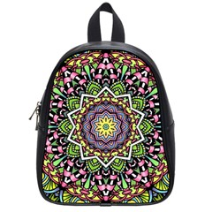 Psychedelic Leaves Mandala School Bag (small) by Zandiepants
