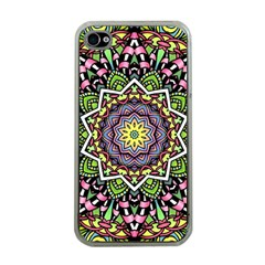 Psychedelic Leaves Mandala Apple Iphone 4 Case (clear) by Zandiepants