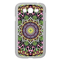 Psychedelic Leaves Mandala Samsung Galaxy Grand Duos I9082 Case (white) by Zandiepants