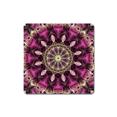 Purple Flower Magnet (Square) by Zandiepants